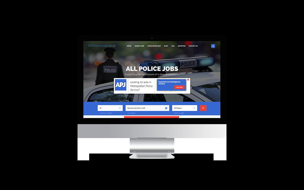 Police Jobs website mockup- Super Recognisers International - Kent, England